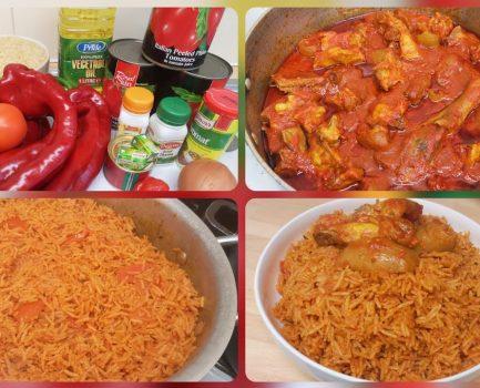 Jollof Rice And Chicken Stew