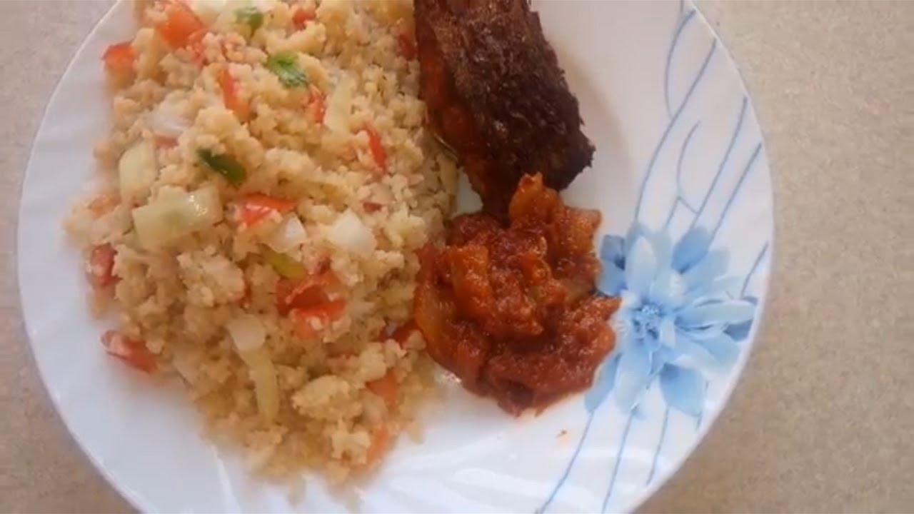 Attieke with minced meat