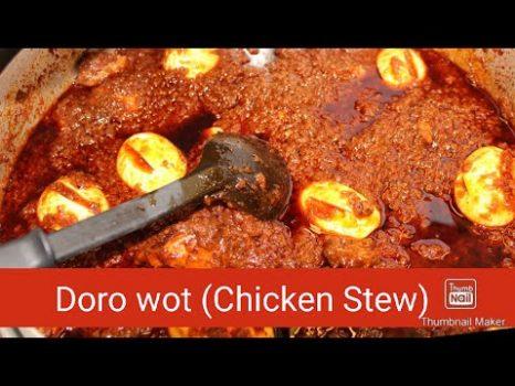 Doro Wot van Kippevlees (Stoofschotel van Kip)