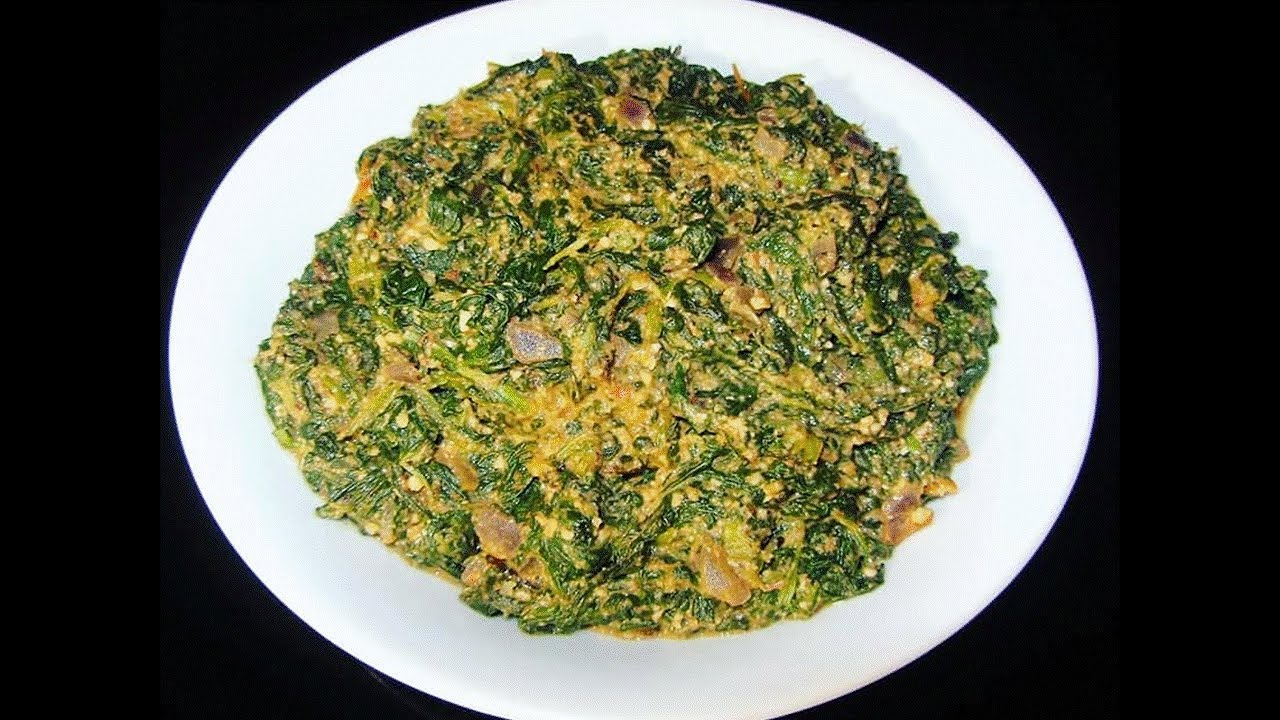 Mchicha (Spinach And Groundnuts)