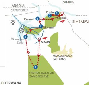 De parels van Botswana (15 dagen)
