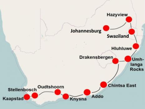 Zuid Afrika En Route (23 dagen)