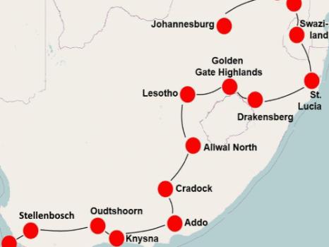 Parels van Zuid Afrika (29 dagen)