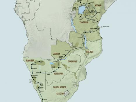 Het beste van Afrika (59 dagen) – Zuidwaarts