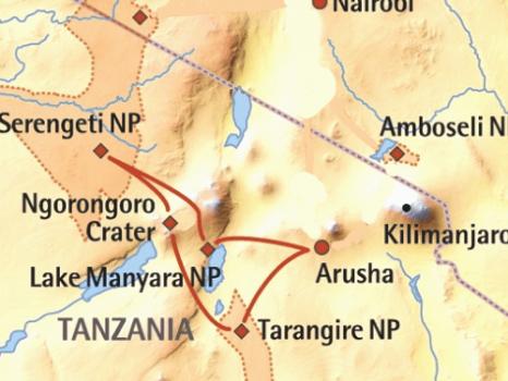 Beste van Tanzania (9 dagen) – cat. Standard