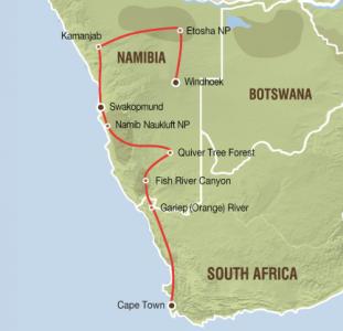 van Tafelberg tot zandwoestijn (17 dagen)