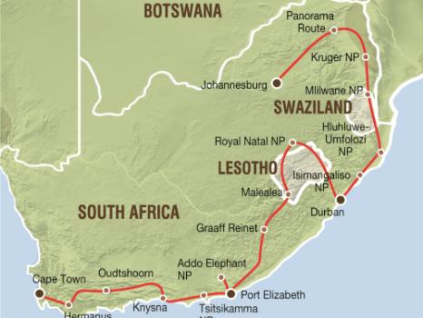 van Tafelberg tot Kruger (24 dagen)