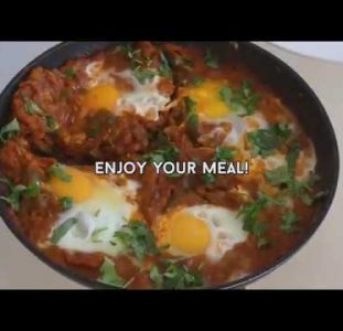 How To Make Shakshuka | Tunisian Breakfast Recipe | Africa Web TV 1-minute Culinary Tips