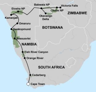 Grote ontdekkingsreis van Kaapstad naar Victoria Falls (26 dagen)