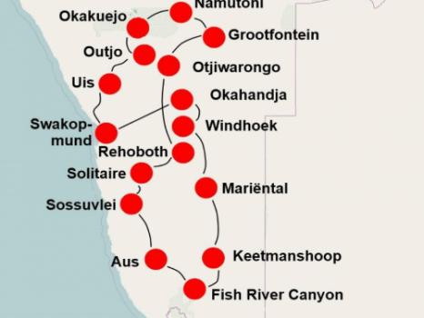 Namibië per camper (24 dagen)