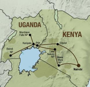 Masai Mara & Gorillas (18 dagen)