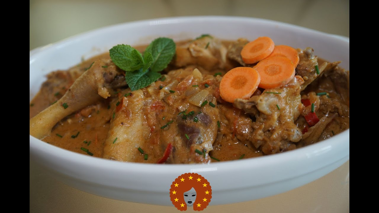 Traditional Zimbabwean Road Runner Chicken in Peanut Butter Sauce
