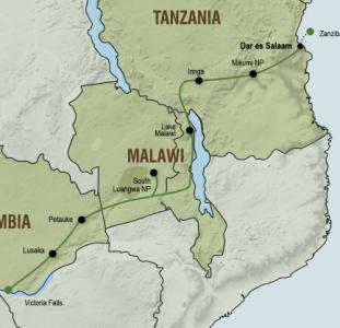 Kampeeravontuur van Victoria Falls tot Zanzibar (18 dagen)