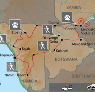 Wildlife, woestijnen en waterwegen (24 dagen)