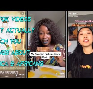 Tiktok videos that actually teach you things about Africa & Africans #1