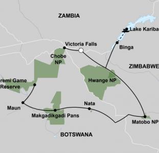 Expeditie Botswana en Zimbabwe (17 dagen)