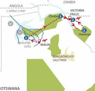 Botswana en Zimbabwe in 't wild (11 dagen)