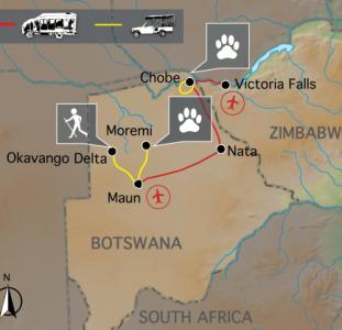 De wildparken van Botswana (15 dagen)