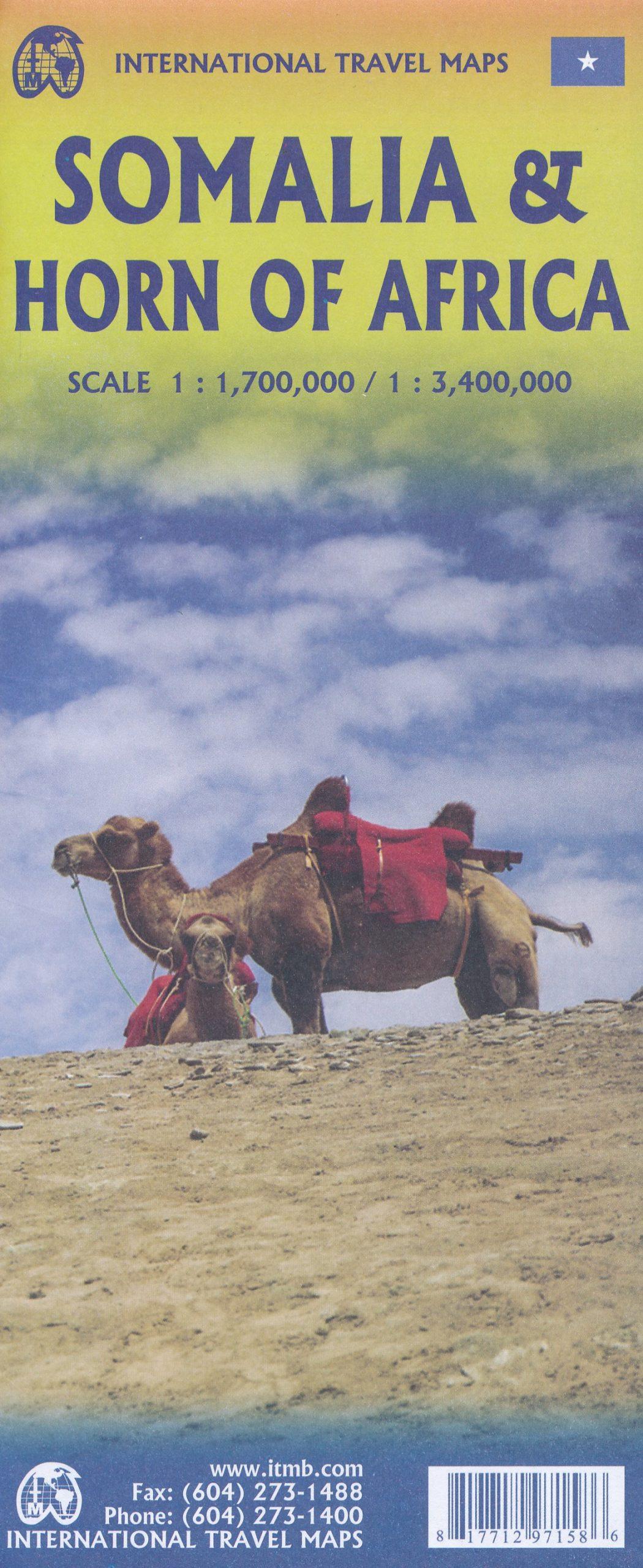 Wegenkaart – landkaart Somalië & Hoorn van Afrika | ITMB