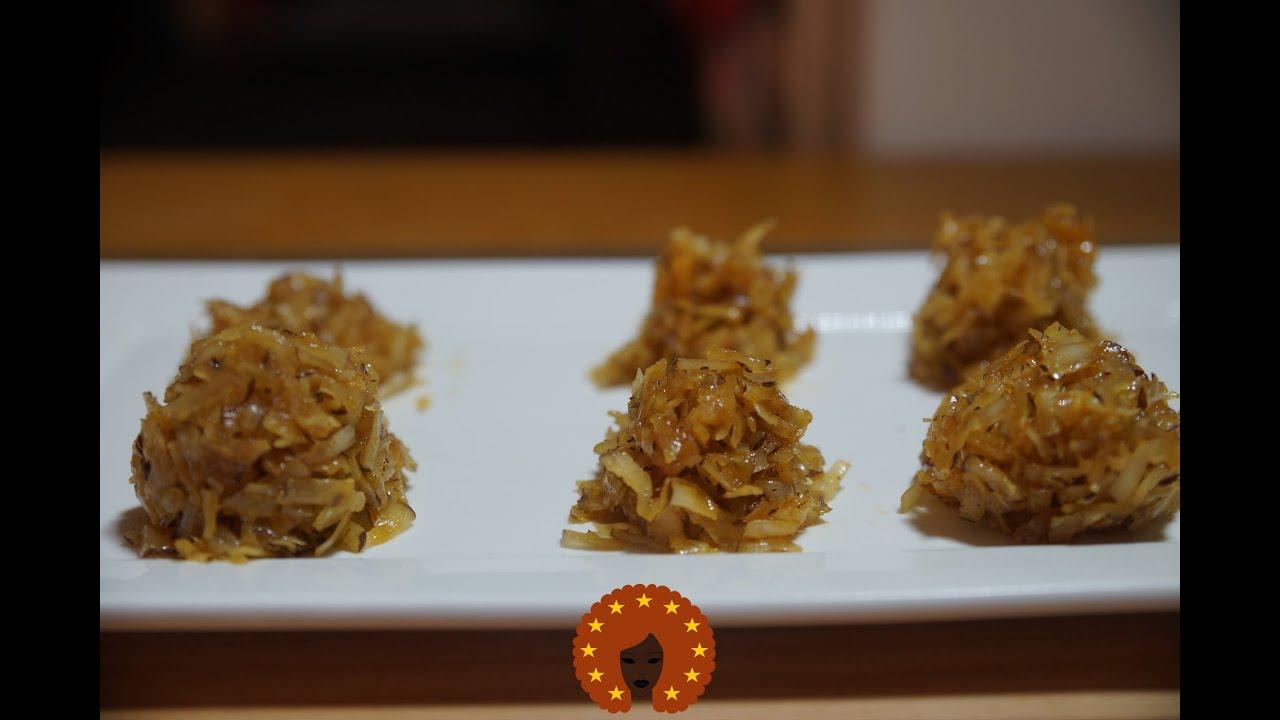 West Afrikaanse kokosnoot karamel snoep