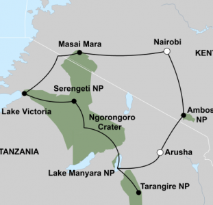 Beleef de migratie van Oost-Afrika (16 dagen) – start Nairobi