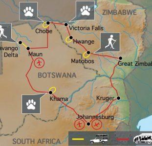 Het beste van Zimbabwe en Botswana (19 dagen)