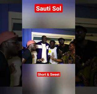 Sauti Sol – Short & Sweet (acapella) #Shorts